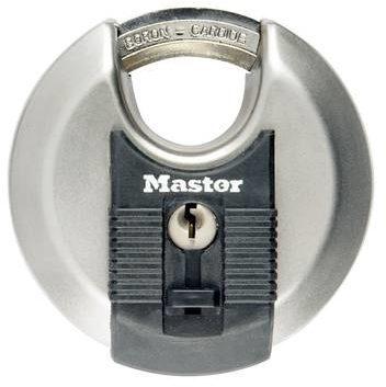 Afbeelding van Zilveren Master lock discus hangslot excell 70 mm gelamineerd staal m40eurd