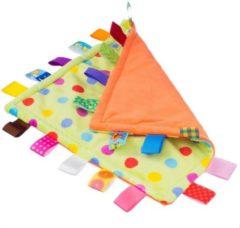 Oranje Woezy - Labeldoek Dottie - Knuffeldoekje - Kraamcadeau - Baby - Jongen - Meisje