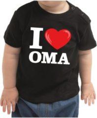 Bellatio Decorations I love oma cadeau t-shirt zwart voor baby / kinderen - jongen / meisje 80 (7-12 maanden)