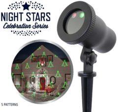 Rode Laser Light Night Stars 5 Patronen + afstandbediening en aluminium frame - Kerstverlichting - Tuinverlichting - Laser projector