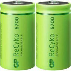 GP batterijen GP Batteries ReCyko+ Oplaadbare D batterij (mono) NiMH 5700 mAh 1.2 V 2 stuk(s)