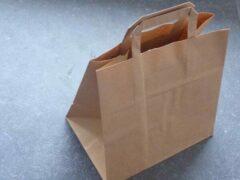 Amerigo Papieren draagtas bruin papier, 26 x 17 x 25 cm (250 stuks)