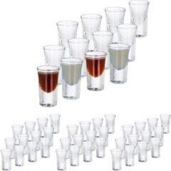 Transparante Relaxdays 48x shotglazen - borrelglaasjes - 4 cl - glas - likeur - feest - set