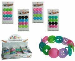 Out Of The Blue 24 Stuks Maak je eigen kleurrijke armbanden - Uitdeelcadeautjes - Uitdeel - traktatie voor kinderen - Meisjes