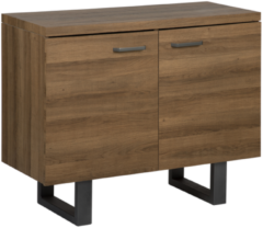 Beliani Dressoir / sideboard donkere hout-look 2 deuren TIMBER