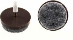 Verlofix Viltnagel Diameter 28mm Nylon Bruin 4stuks