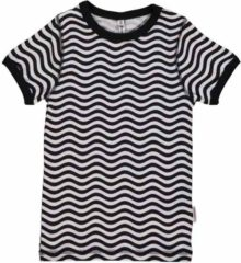 Witte Maxomorra Top SS Slim Waves Black/White 74