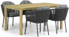 Antraciet-grijze Santika Furniture Santika Novita/Weston 160 cm dining tuinset 5-delig