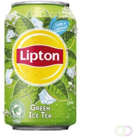 Afbeelding van Groene Frisdrank Lipton Ice Tea groen blikje 0.33l