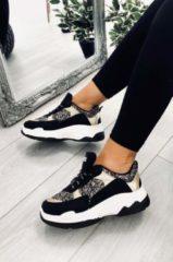 Alx Trend Sneakers con lacci e glitter Ionia Nere Oro