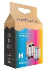 WeCare Cartridge combipack voor HP 364XL zwart (2x) + kleur (3x)