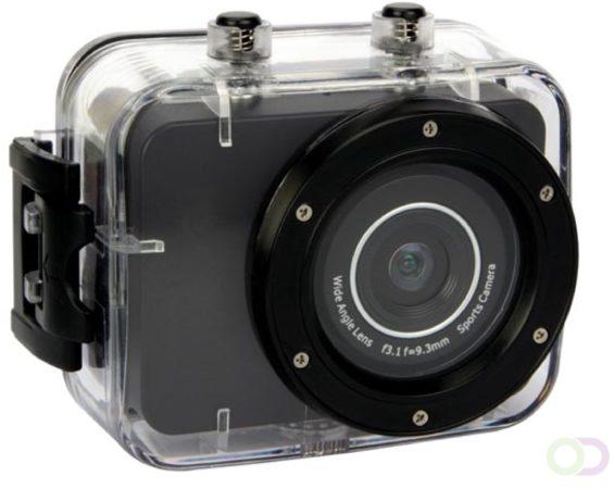 Afbeelding van Zwarte Velleman LEISURE - Action camera - Full HD - 1080p - 30fps - 5MP - waterproof