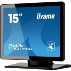 Iiyama ProLite T1521MSC-B1 touch screen-monitor 38,1 cm (15'') 1024 x 768 Pixels Zwart Multi-touch Tafelblad