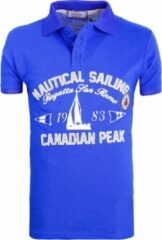 Blauwe Canadian Peak Poloshirts heren Heren Poloshirt Maat M