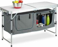 Witte Relaxdays campingtafel inklapbaar - klaptafel - campingkast - vouwtafel - inklapbare tafel