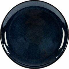 Blauwe Kaitø KAITØ Coupe bord diam. 16cm 'Indigo Blue' Stoneware - 6 stuks