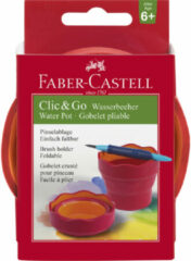 Donkerrode Watercup Faber Castell Clic & Go blackberry