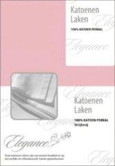 Elegance Laken Katoen Perkal - licht roze 200x260