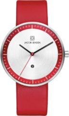 Zilveren Jacob Jensen Strata horloge
