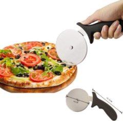Roestvrijstalen Decopatent® PRO Pizzaroller - RVS Pizzasnijder met kunststof handvat - Pizzames - Pizza snijder - Pizzaverdeler - Pizza roller 10Ø