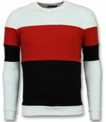 Enos Sweater Mannen - Online Streep Truien Kopen - Rood Heren Sweater XS