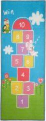 Relaxdays hinkelmat - speelkleed hinkelen - speelmat - vloerkleed kinderkamer -180x70 cm