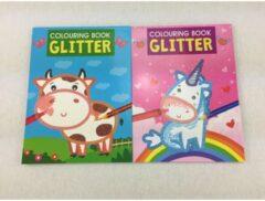 Massamarkt Kleurboek Glitter 12 pagina's