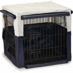 Beeztees Hoes voor hondenbench benco beige/blauw 63 x 55 x x 61 cm