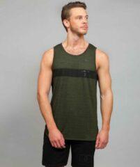 Marrald phantom tanktop groen heren fitness crossfiets shirt sportshirt performance