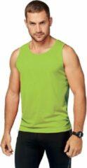 Proact Lime groen sport singlet voor heren - Maat S - sport hemdje