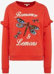 Tom Tailor sweater romance & lemons - rood - 1002644 - maat XS