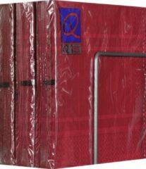 Bordeauxrode Merkloos / Sans marque Servetten - Papier - Set van zes pakjes - 6 x 20 stuks - Vierkant Bordeaux - 33cm x 33cm