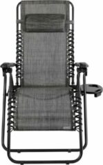 Antraciet-grijze Casaria Luxe ligstoel Antraciet, opvouwbaar, inklapbaar, 165x65x113cm