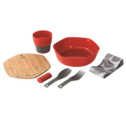 Robens - Leaf Meal Kit - Bestek-set maat 20 x 18.3 x 5.5 cm, rood/beige/grijs