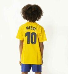 Gele Holland FC Barcelona Messi Voetbaltenue Uit 2019-2020 Kids