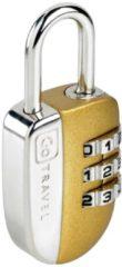 Gepäckzubehör Zahlenkombinationsschloss I GoTravel gold-silberfarben