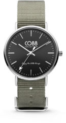 CO88 Collection Watches 8CW 10018 Horloge - Nato Band - Ø 36 mm - Grijs