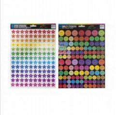 Verhaak Stickervel Gekleurde Smileys 29 X 21 Cm Papier