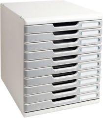 Grijze Exacompta Ladenblok Modulo met 10 gesloten laden grijs/grafiet