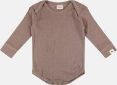 Grijze Turtledove - Rib Bodysuit Stone - 62/68