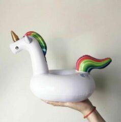 Assortimarkt.nl Opblaasbare Eenhoorn voor in zwembad en stand speelgoed glas / blikhouder opblaasbaar speelgoed voor in water