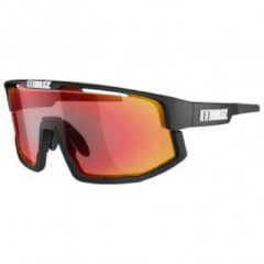 Zwarte BLIZ - Vision - Matt Black // Brown with Red Multi lens