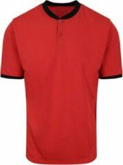 AWDis Gewoon Cool Mens Stand Collar Sport Polo (Brand Rood/Jet Zwart)