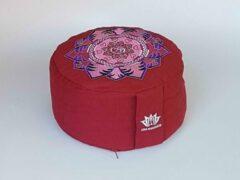 Om Namaste Meditatiekussen design - Rood - met lotus en Om teken