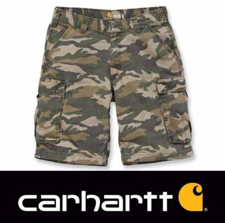 Afbeelding van Beige Carhartt Rugged Cargo Khaki Camo Short Heren