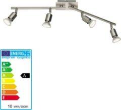 Reality RealityTrio Deckenleuchte Deckenlampe Balkenleuchte nickel matt incl. LED Leuchtmittel