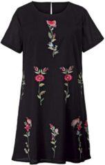 Kleid mit Blumen-Stickerei Angel of Style Schwarz