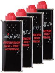 Zwarte 4 x Zippo Vloeistof - benzine aansteker
