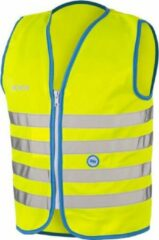 Gele 10 stuks WOWOW Fun Jacket Large - Fluohesje kind met rits - Veiligheidshesje EN 1150 certificaat