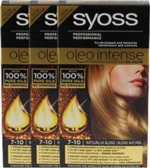 Naturelkleurige Syoss Oleo Intense 7-10 Natuurlijk blond - 3 st - voordeelverpakking